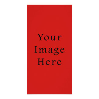 Bright Poppy Red Color Trend Blank Template Photo Cards