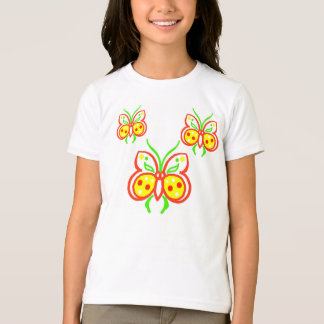 Bright Pretty Abstract Butterflies T-Shirt