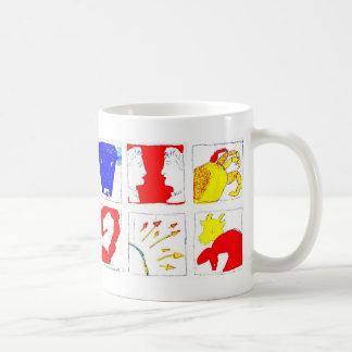 bright primary colour zodiac star sign mug