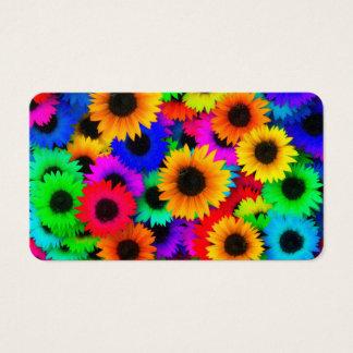 Bright Psychedelic Flower Child Hippy Pattern