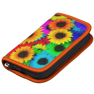 Bright Psychedelic Flower Child Hippy Pattern Organizers