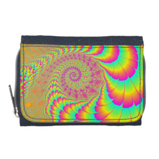 Bright Psychedelic Infinite Spiral Fractal Art Wallets