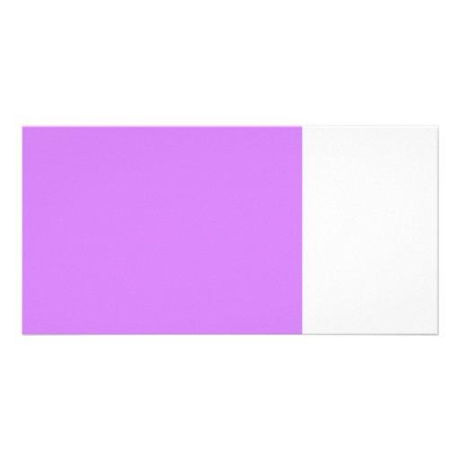bright purple 50 lightness 8 x 11.jpg personalized photo card
