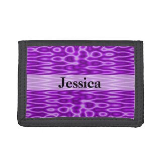 Bright purple abstract background trifold wallet