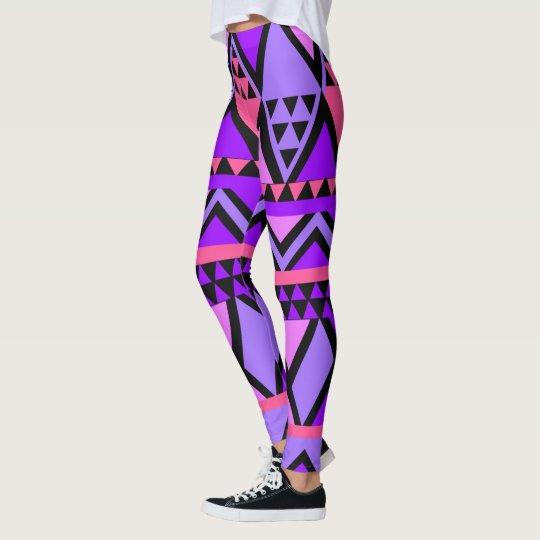 Bright Purple, Blue, Pink 80's Zig Zag Pattern