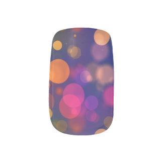 Bright Purple, Blue, Pink Bokeh Background Pattern Minx Nail Art
