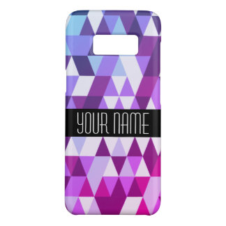 Bright Purple Blue Triangle Geometric Pattern Case-Mate Samsung Galaxy S8 Case