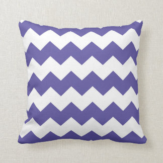 Bright Purple / Blue-Violet Chevron Pattern Cushion