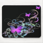 Bright Purple Butterfly Mousemats