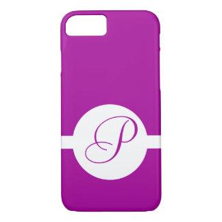 Bright Purple Circle Monogram iPhone 8/7 Case