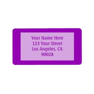 bright purple color label