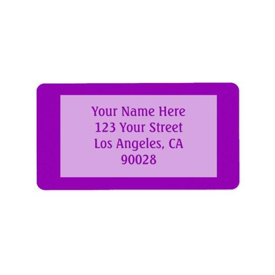 bright purple colour label