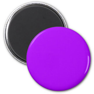 bright purple do it yourself design template 6 cm round magnet