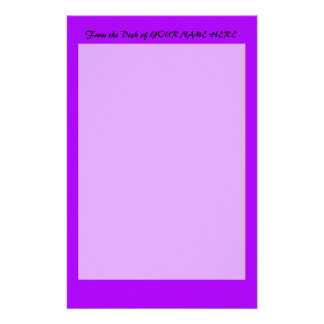 bright purple do it yourself design template personalised stationery