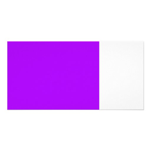 bright purple do it yourself design template photo greeting card