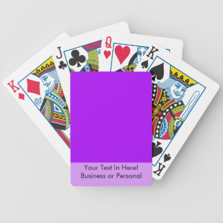 bright purple do it yourself design template playing cards