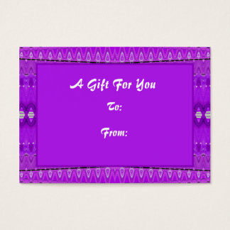 Bright Purple Gift tags