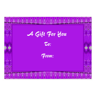Bright Purple Gift tags Business Cards