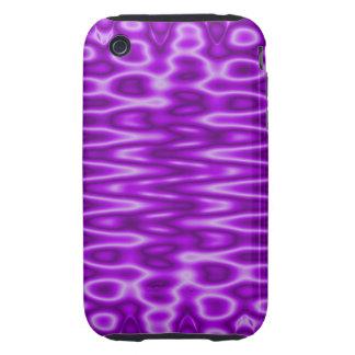 bright purple pattern iPhone 3 tough cover