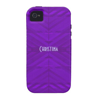 Bright Purple Pattern Vibe iPhone 4 Covers