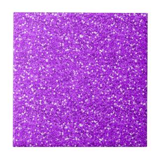 Bright Purple Shimmer Glitter Tiles
