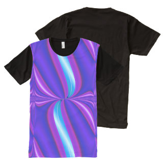 Bright Purple Turquoise Mod Design All-Over Print T-Shirt