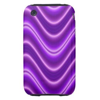 Bright purple wave iPhone 3 tough case