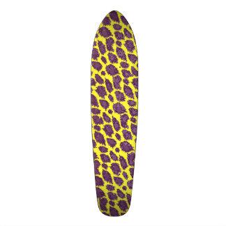Bright Purple Yellow Cheetah Custom Skate Board