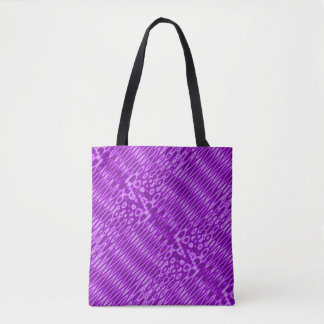 Bright Purple Zigzag Pattern Tote Bag