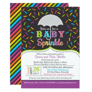 Bright Rainbow Baby Sprinkle Umbrella Invitation