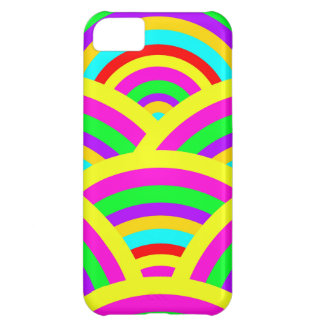Bright Rainbow Colorful Arches Stripes iPhone 5C Case