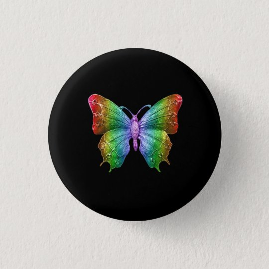 Bright Rainbow Colours Jewelled Butterfly 3D 3 Cm