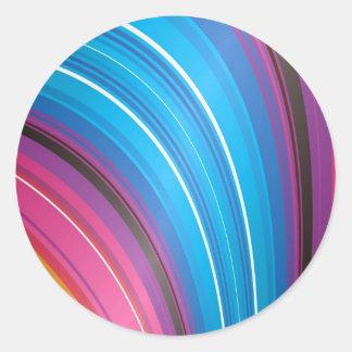 Bright rainbow falls classic round sticker