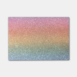 Bright rainbow glitter post-it® notes