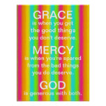 bright rainbow Grace and Mercy of God reminder Poster