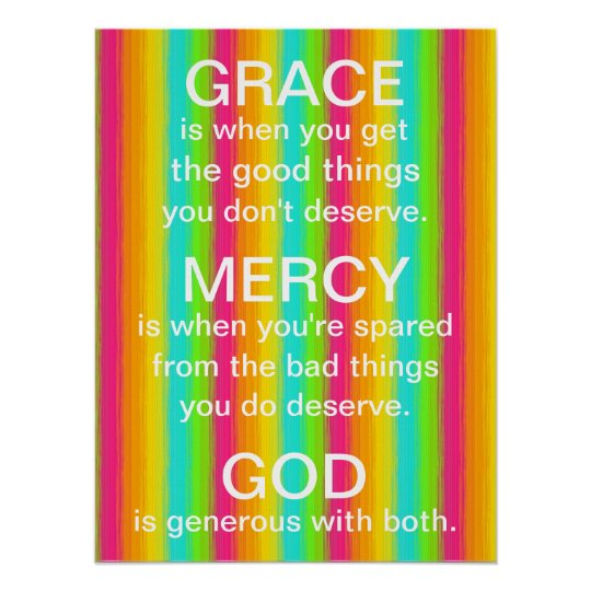 bright rainbow Grace and Mercy of God reminder