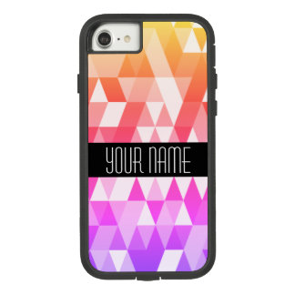 Bright Rainbow Gradient Triangle Geometric Pattern Case-Mate Tough Extreme iPhone 8/7 Case