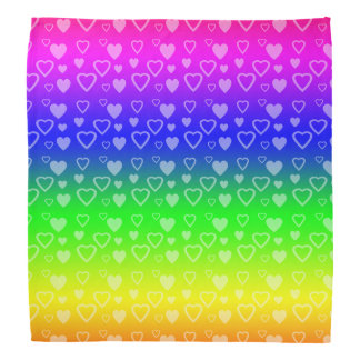 Bright rainbow hearts bandana
