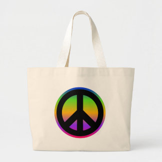 Bright Rainbow Large Tote Bag