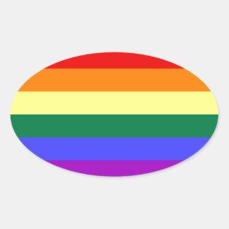 Bright rainbow pattern. oval sticker