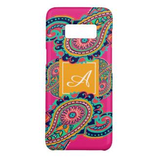 Bright Rainbow Pink Paisley Monogram Case-Mate Samsung Galaxy S8 Case
