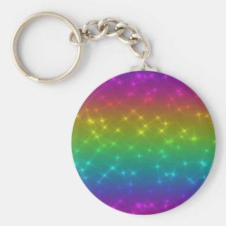 Bright Rainbow Sparkles Keychain