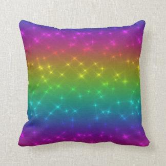 Bright Rainbow Sparkles Pillow