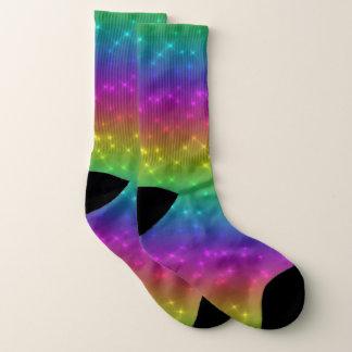 Bright Rainbow Sparkles Socks