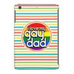 Bright Rainbow Stripes, Gay Dad iPad Mini Retina Cover