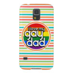 Bright Rainbow Stripes, Gay Dad Galaxy S5 Case