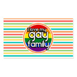 Bright Rainbow Stripes, Gay Family Business Card