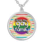 Bright Rainbow Stripes, Gay Family Custom Jewelry