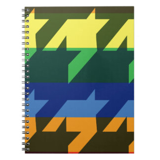 Bright Rainbow Stripes Spiral Note Book