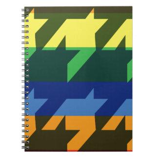 Bright Rainbow Stripes Spiral Note Book